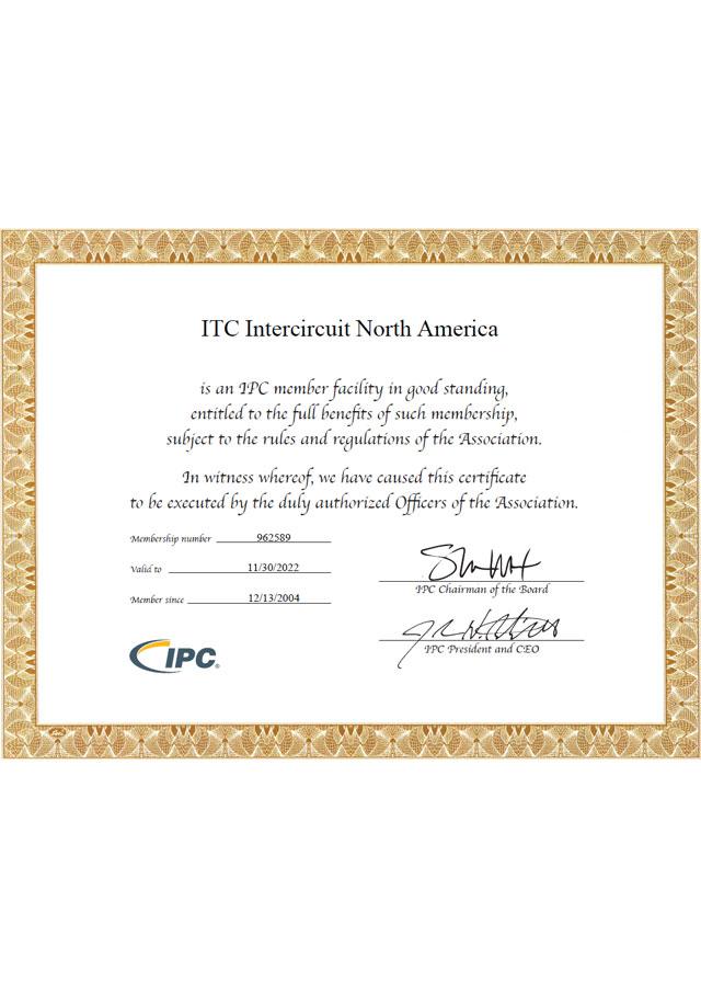 IPC MemberShip Certificate